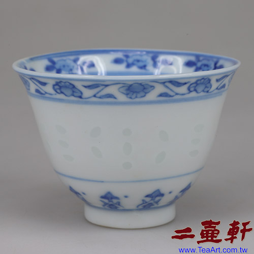 70年代景德鎮出口瓷小米粒杯手繪內桃款景德鎮製