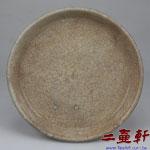 清末民國初年泉州灰瓷開片工夫茶盤,古董茶盤,壺承,茶船