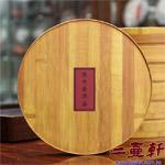 圓形竹紋普洱茶盒
