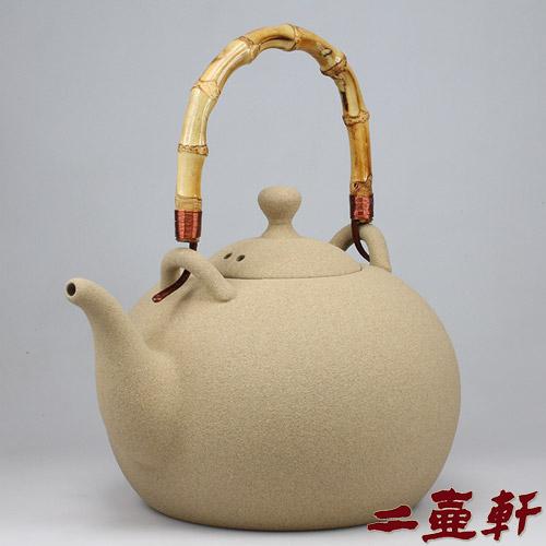 台灣丞漢新月陶壺耐熱陶泥茶壺燒水壺陶瓷泡茶壺煮茶器
